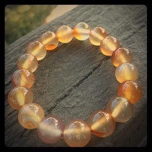 Jewelry - Orange Agate/ Genuine Gemstone/ Brazil Crystal